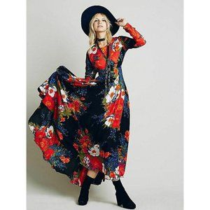 Free People First Kiss Floral Maxi Dress Gown